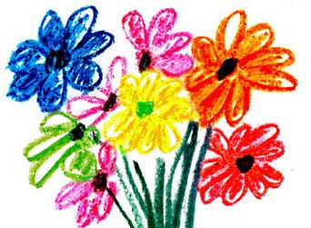 儿童学习色彩画的理想工具——蜡笔画