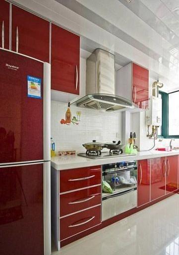 小餐厅冰箱摆放效果图