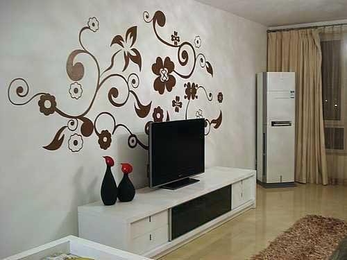 时尚家居手绘墙 活色生香写意家