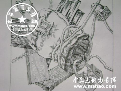 优秀创意速写作品-中国色彩网