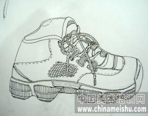 创意素描鞋步骤图片