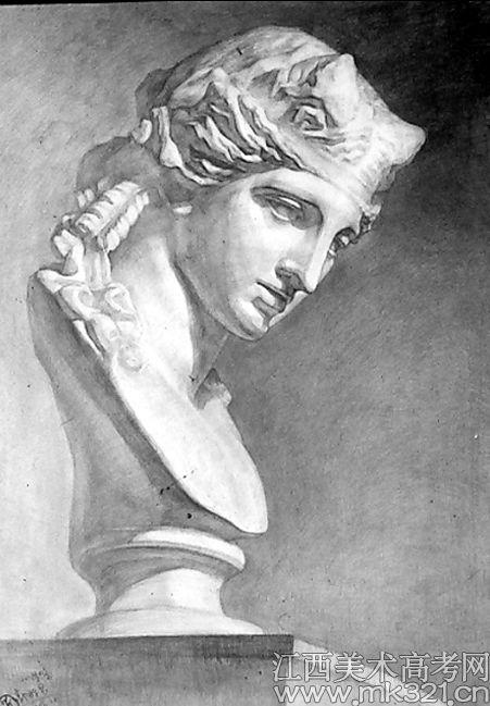 维纳斯石膏头像素描