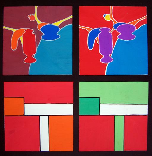 学生色彩构成作品 纯度 色相对比
