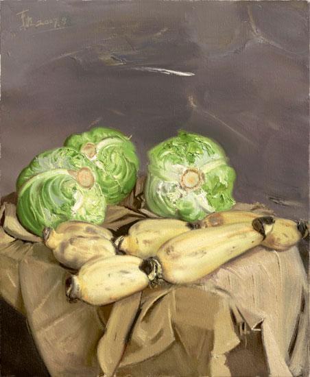 忻东旺蔬菜油画作品