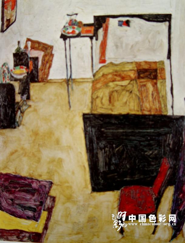 席勒油画欣赏