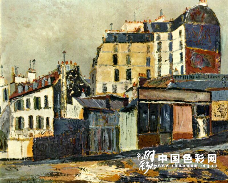 莫里斯61郁特里罗;; 法国风景画家郁特里罗-风景油画作品欣赏