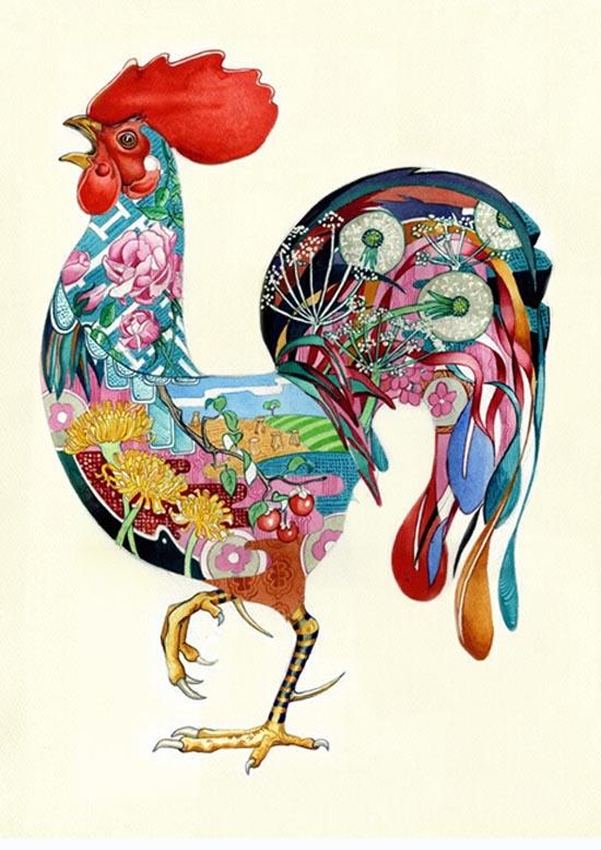 插画中的动物浮世绘